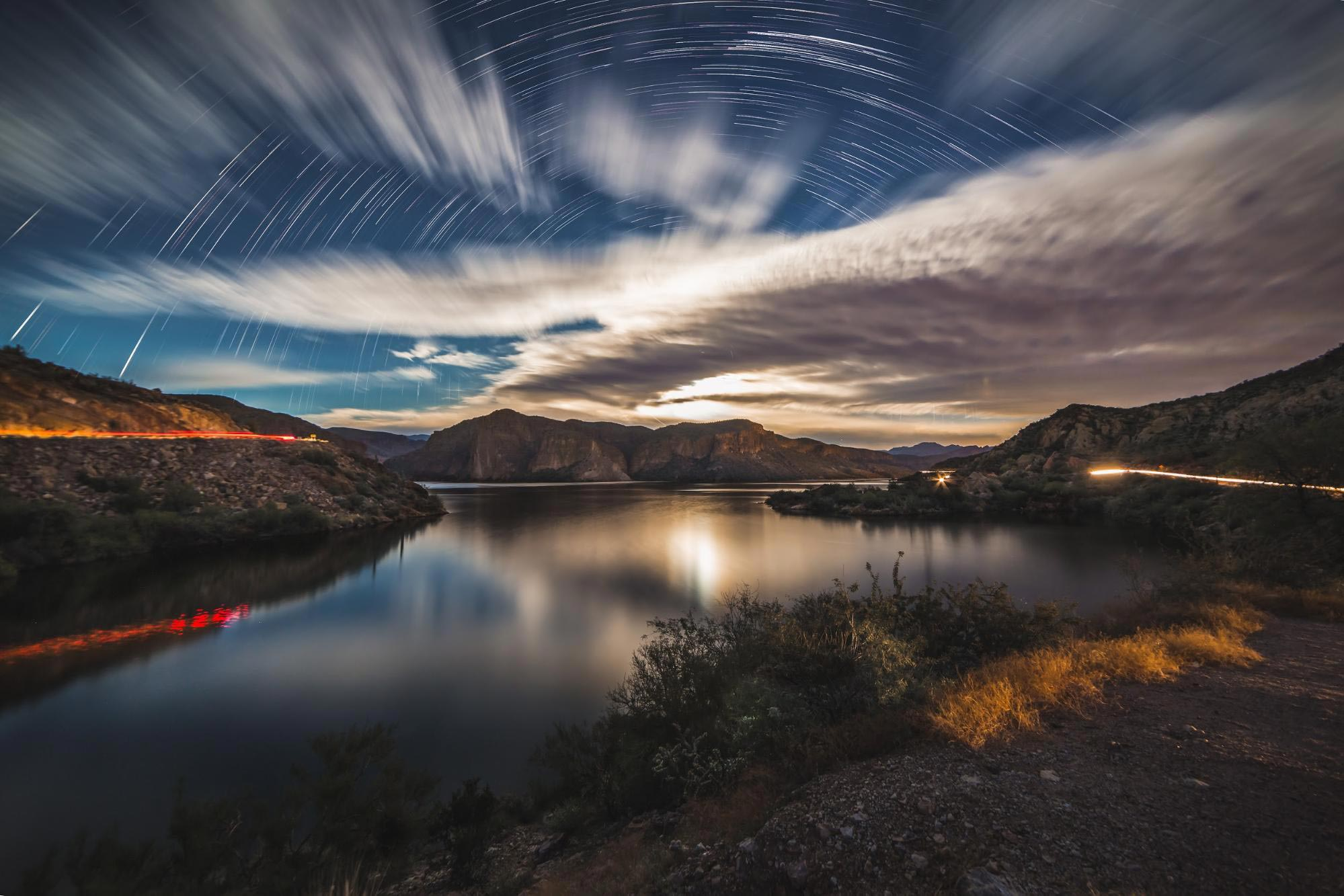 moonlit-landscapes-lake-star-trails