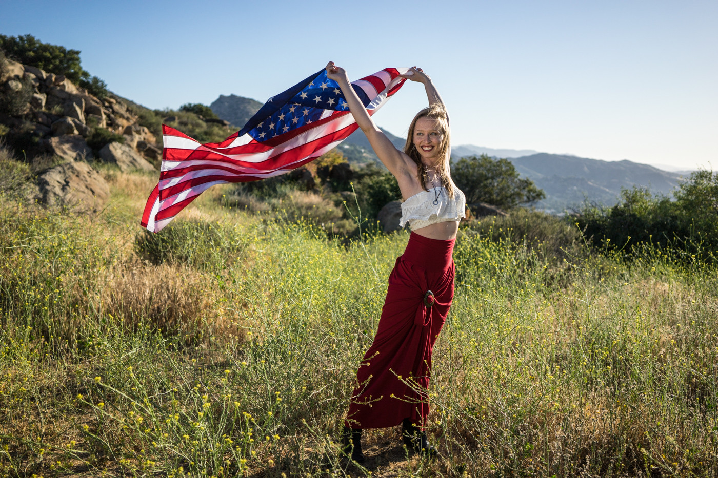 diana-patriotic-american-flag-red-skirt-simi-valley-california